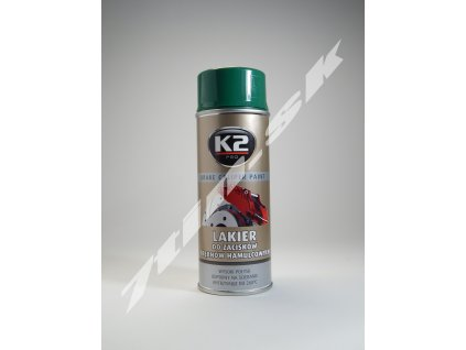 K2 Brake caliper paint Sprej na brzdové obloženie (zelený) 400 ml