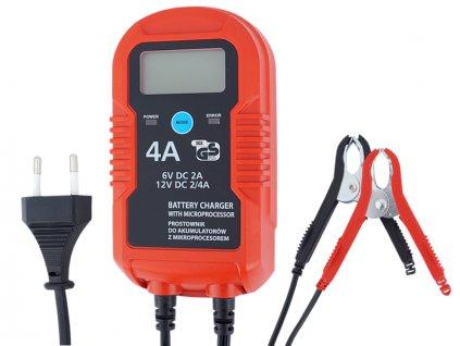 Autonabíjačka s mikroprocesorom 6 V (2 A)/12 V (2/4 A)