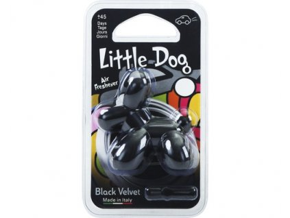 LITTLE DOG Black velvet (zamat)