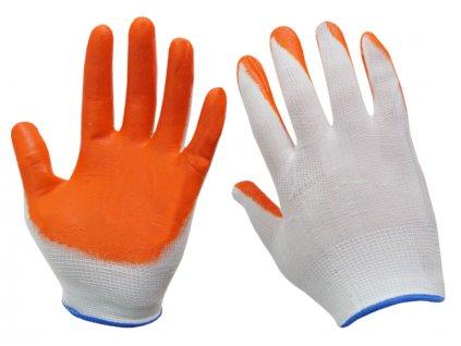 Pracovné rukavice potiahnuté nitrilom (XL)