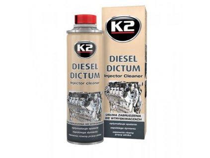 K2 Diesel Dictum Čistič vstrekovačov 500 ml