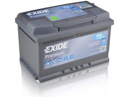 Exide Premium 12V 72Ah 720A (EA722)