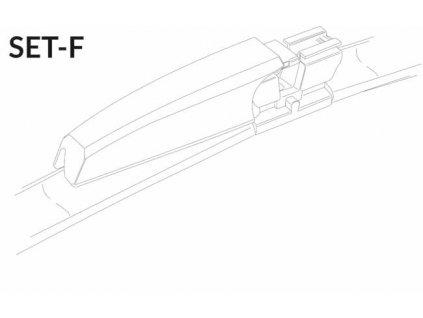 """SET F 22""""/22"""" 550 + 550 mm sada predných stieračov"""