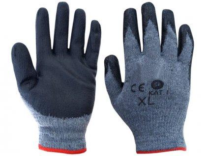 Pracovné rukavice potiahnuté gumou (XL)