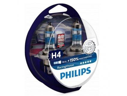Philips RacingVision +150 % H4 P43t 12V 60/55W duobox