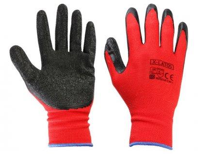 Pracovné rukavice potiahnuté latexom (XL)