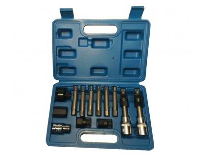 pol pl Zestaw kluczy nasadowych do alternatora 13 cz alternatorow 13pcs Alternator Pulley Remover Install Tool Set Hex Spline Torx Bit Key 1079A FTXC8720 JC 8059 711 3