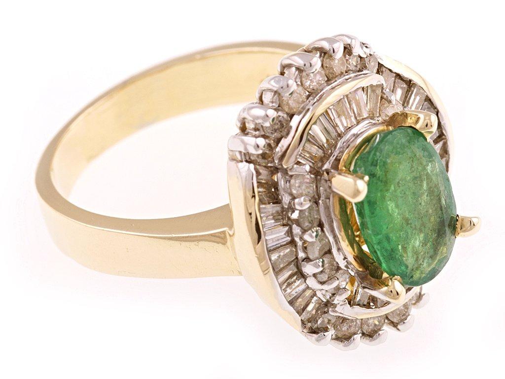 0957afbde Zlatý prsten s přírodním smaragdem a diamanty - a-diamond.eu jewels