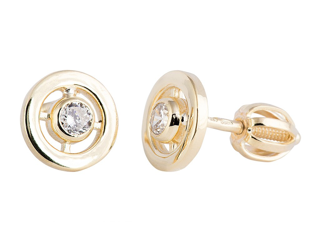 8881beb3b6c9 Náušnice zlaté pecky briliant - a-diamond.eu jewels