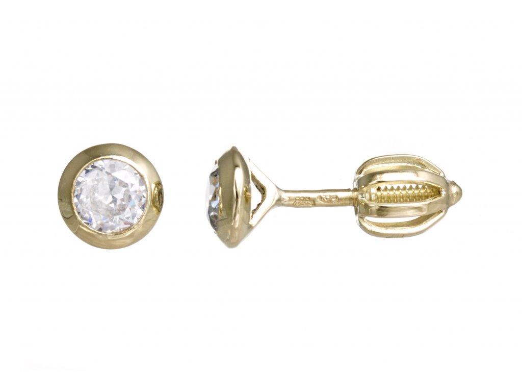 6edea920d528 Náušnice zlaté pecky na šroubky - a-diamond.eu jewels