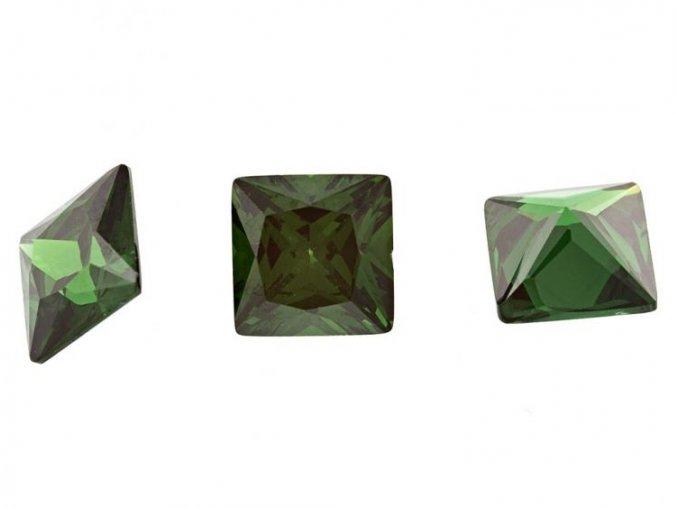 Zelené kubické zirkony
