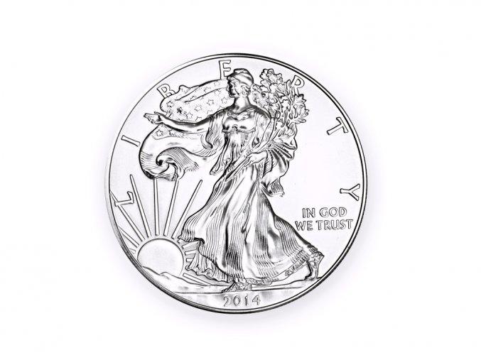 Investiční mince stříbrná - Eagle US Dollar