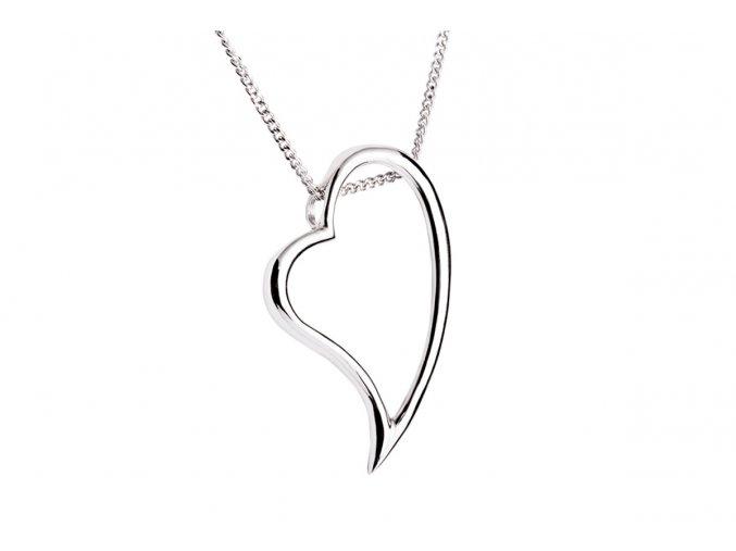 Přívěsek stříbrný srdce - srdíčko