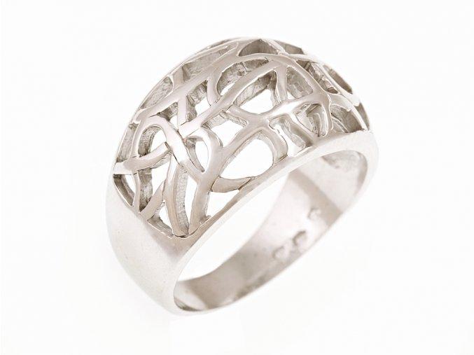 Prsten stříbrný český šperk
