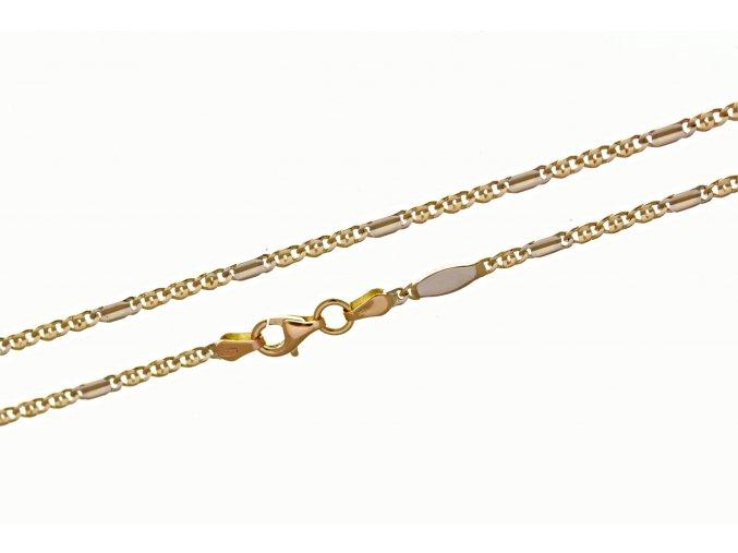 Řetízek zlatý, kombinace žluté a bílé zlato