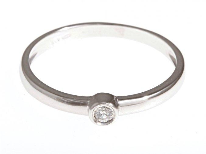 Prstýnek z bílého zlata s přírodním diamantem