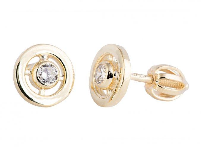Zlaté náušnice s přírodními diamanty