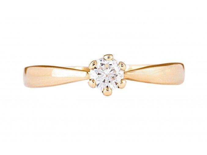 Zlatý prstýnek s kamínkem