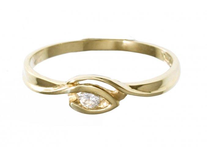 Zlatý prstýnek s přírodním diamantem