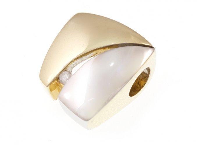 Přívěsek zlatý s přírodním diamantem