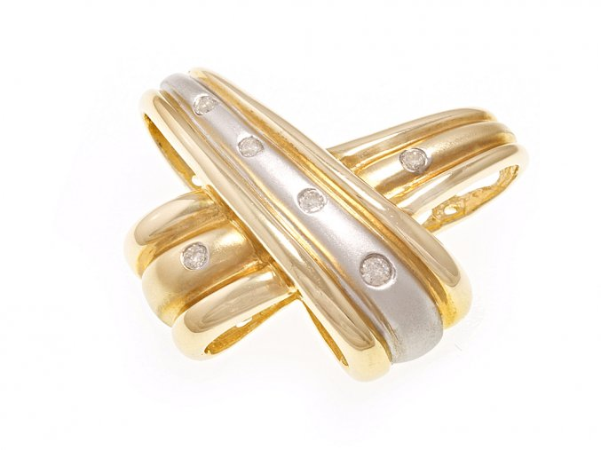 Přívěsek zlatý s přírodními diamanty