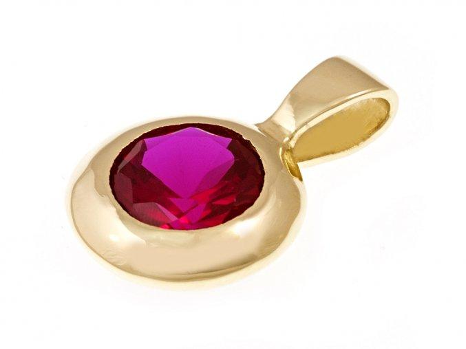 Přívěsek zlatý s rubínem