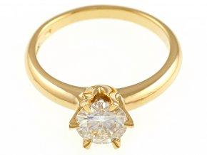 Zlatý prsten s briliantem Moissanite