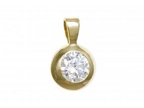 Zlatý přívěsek s brilantním kamínkem