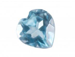 Topaz modrý broušené srdíčko v dárkovém balení