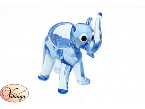 Slon modrý skleněný