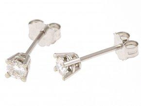 Zlaté náušnice s přírodními diamanty - brilianty