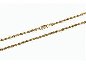 Zlatý řetízek - náhrdelník Diamond - Cut Rope