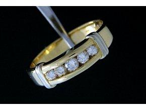 Pánský zlatý prsten s diamanty