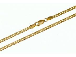 Zlatý řetízek - náhrdelník Flat Anchor