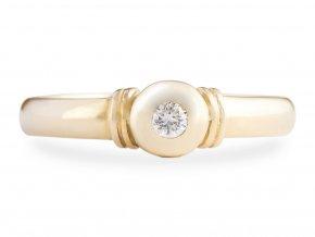 Prstýnek zlatý s přírodním diamantem