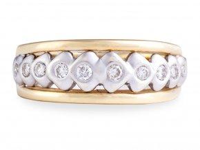 Zlatý prstýnek s přírodními diamanty