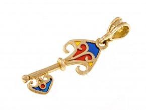Přívěsek zlatý klíč