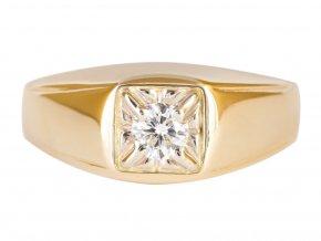 Prsten pánský zlatý