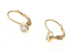 Náušnice zlaté s kamínky