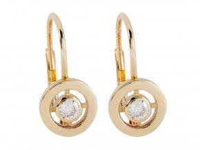 Náušnice zlaté s brilantními kamínky