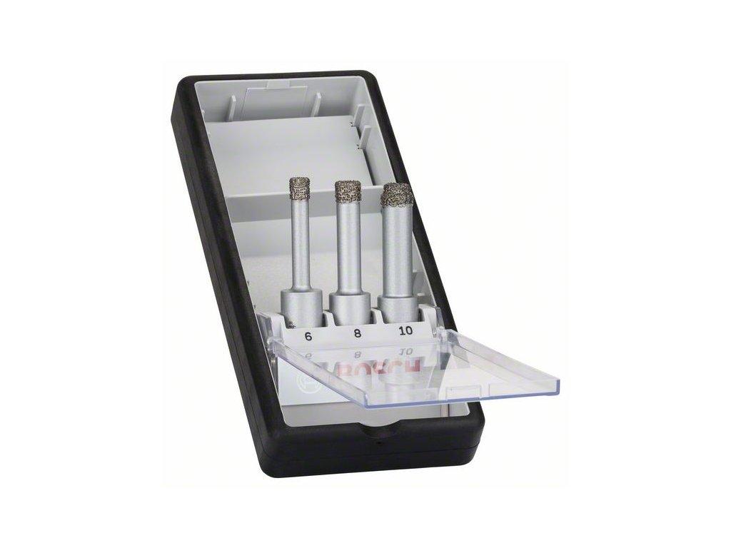 269856 3dilna sada diamantovych vrtaku pro vrtani za sucha robust line easy dry best for ceramic 6 0 8 0 10 0 mm 2608587145