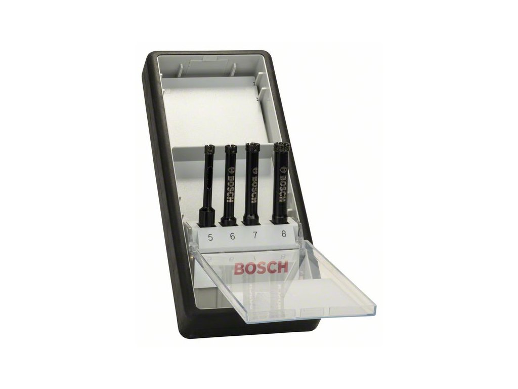 274014 4dilna sada diamantovych vrtaku pro vrtani za mokra robust line 5 6 7 8 mm 2607019881