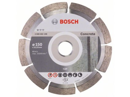 232080 diamantovy delici kotouc standard for concrete 150 x 22 23 x 2 x 10 mm 2608602198