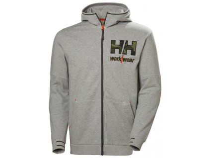 Mikina s kapucí KENSINGTON Helly Hansen - šedá melange camo 4XL šedá melange camouflage (velikost 2XL)