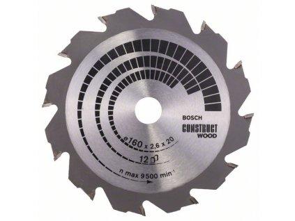 244074 pilovy kotouc construct wood 160 x 20 16 x 2 6 mm 12 2608640630
