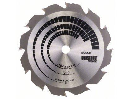 243477 pilovy kotouc construct wood 184 x 16 x 2 6 mm 12 2608641200