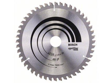 242814 pilovy kotouc optiline wood 216 x 30 x 2 8 mm 48 2608640641