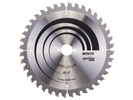 242820 pilovy kotouc optiline wood 250 x 30 x 3 2 mm 40 2608640643