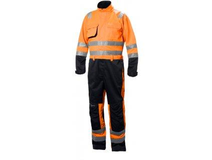 Reflexní kombinéza ALNA CL3 Helly Hansen - oranžová 44 oranžová Hi-Vis (velikost 44)