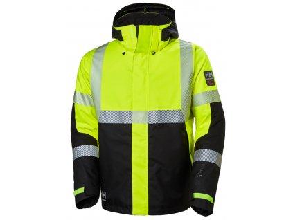 Reflexní zimní bunda ICU Helly Hansen S žlutá Hi-Vis (velikost 2XL)